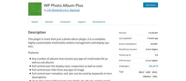 WP Photo Album Plus Homepage