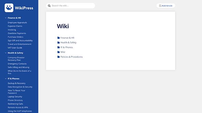 WikiPress Demo Example
