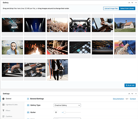 WordPress Image Gallery Plugin such as Modula