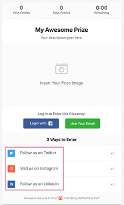 WordPress giveaway plugin to build your audience