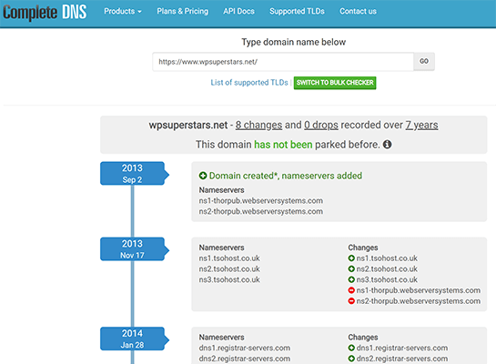 Complete DNS homepage