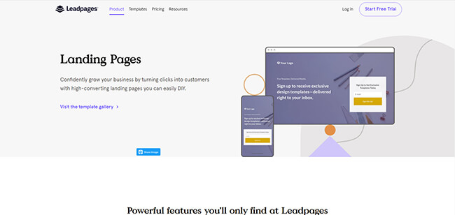 Leadpages Landing Pages Homepage