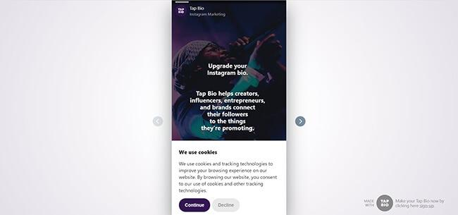 Tap.Bio Homepage