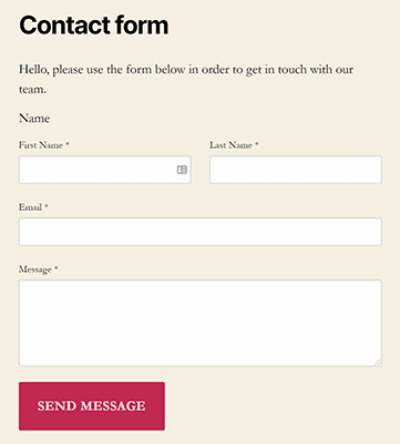 example kali forms contact form