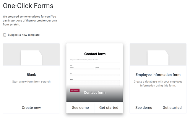 kali forms form templates