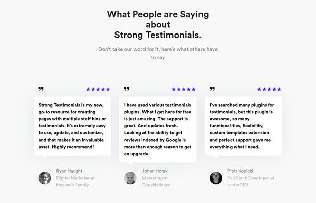 strong testimonials wordpress plugin