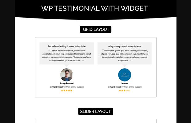 wp testimonials wordpress plugin