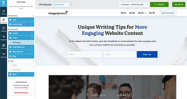 Thrive Suite Site Wizard