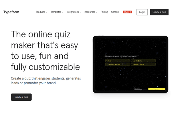 typeform quiz maker