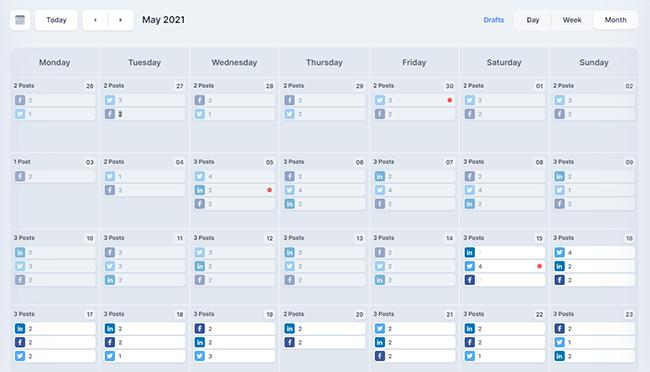 Missinglettr calendar