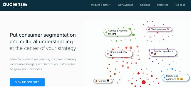 Audiense Homepage