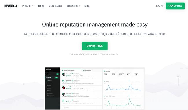 Brand24 Homepage