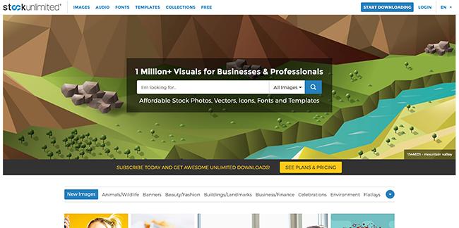 StockUnlimited Homepage