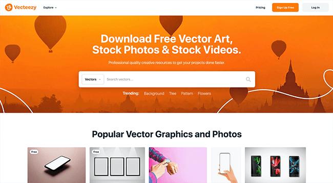 Vecteezy Homepage