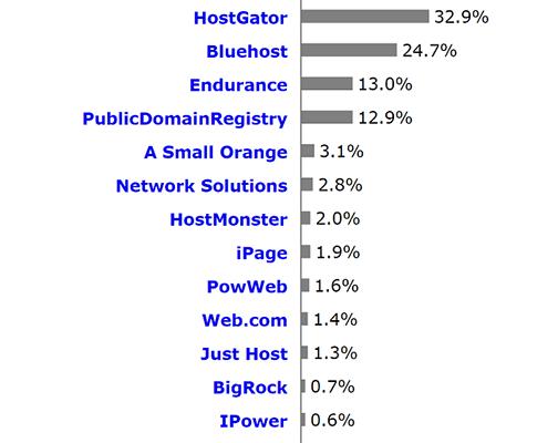 Web Hosting Statistics 9 - Web hosting platform