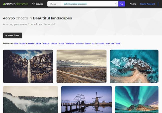 envato elements Best Stock Photo Sites