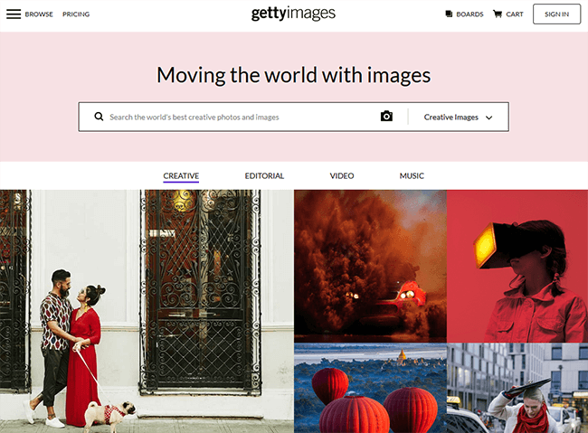 getty images Best Stock Photo Sites