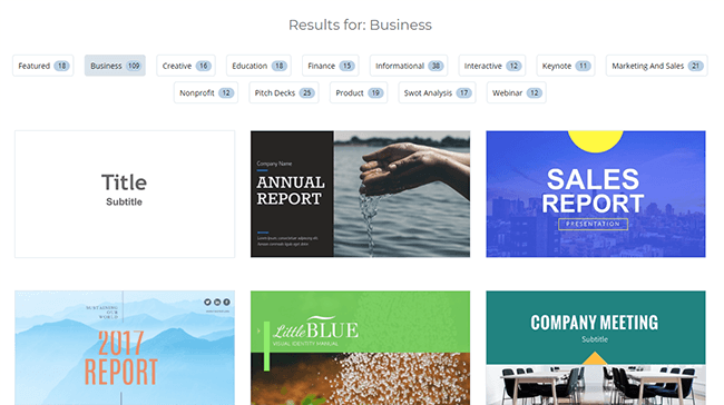 04 Templates categorized by industry or purpose