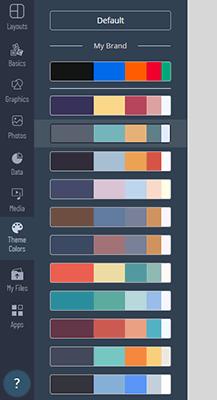 18 Theme colors tab