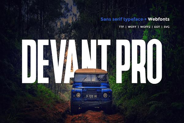 Devant Pro Monospaced Font