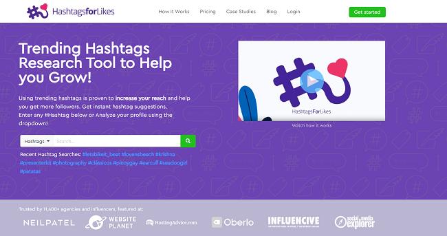 Hashtagforlikes Homepage