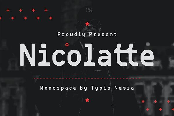 Nicolatte Monospaced Font