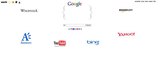 Soovle Homepage