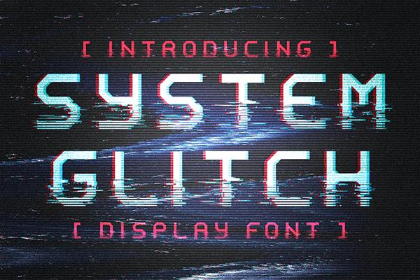 System Glitch Monospaced Font