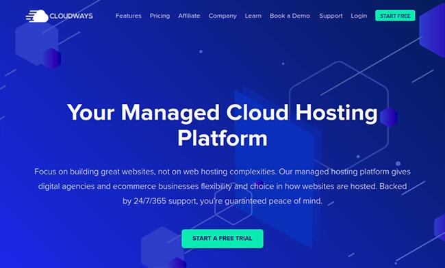 cloudways cloud hosting homepage