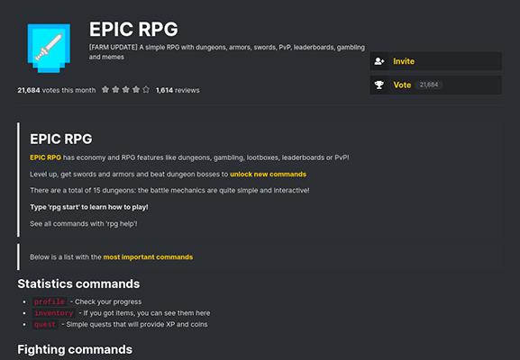 epic rpg discord bot