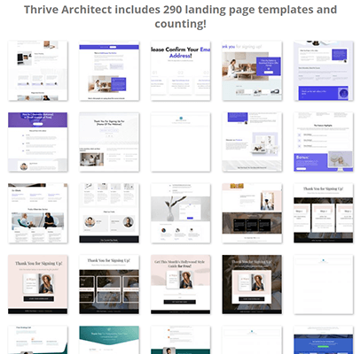 thrive architect template gallery