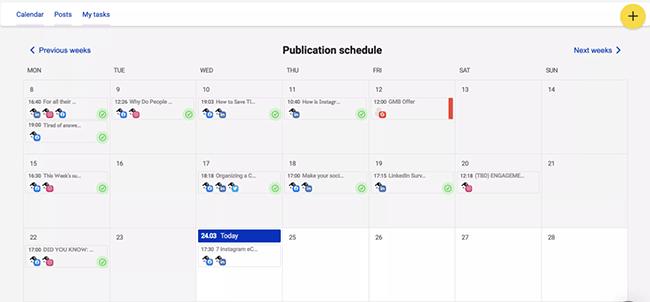 napoleoncat social media calendar