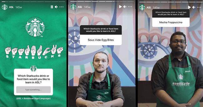 Starbucks question sticker