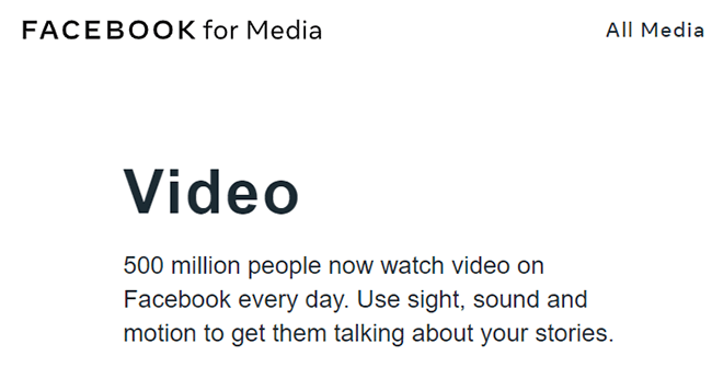 500 million people watch videos on Facebook every day
