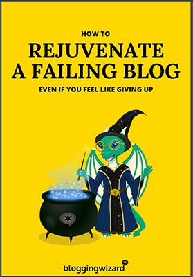Blogging Wizard - eBook - text on photo