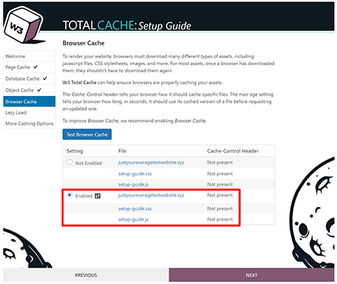 W3 Total Cache 06 - Browser cache enabled