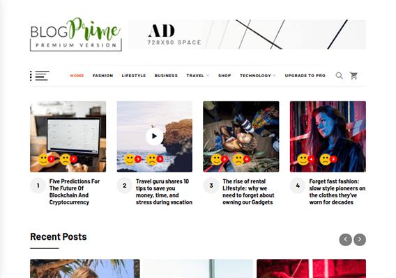 blog prime wordpress theme