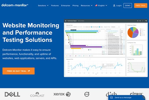 dotcom monitor homepage