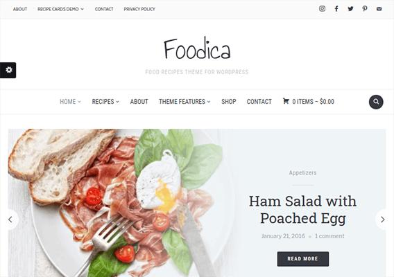 foodica wordpress theme