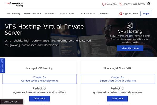 inmotion hosting vps hosting
