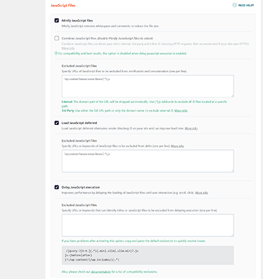 javascript optimization features