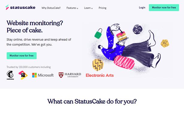 statuscake homepage