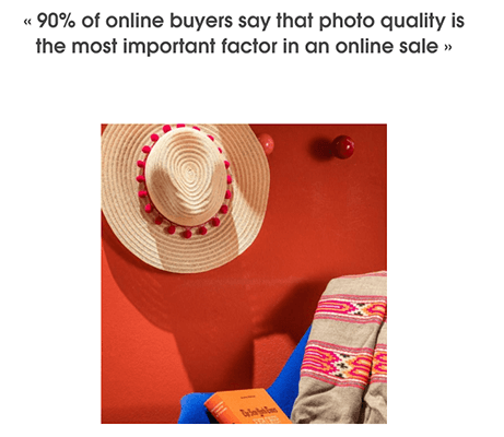 90% of shoppers believe image quality is the most important factor when making online purchases