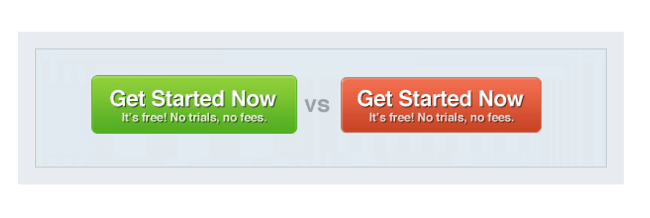 Red buy buttons can increase sales and conversions on e-commerce websites can increase by as much as 34%